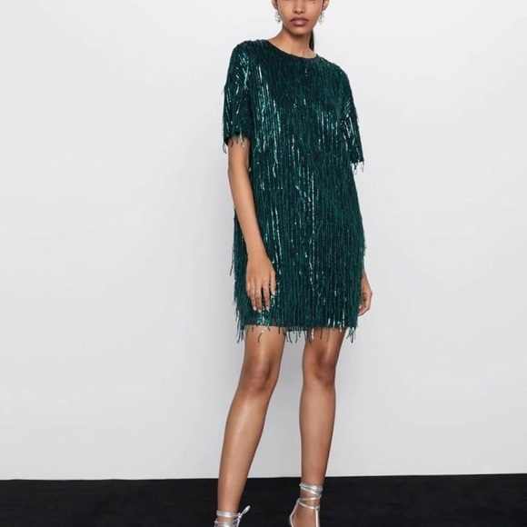 Zara Short Fringe Dress